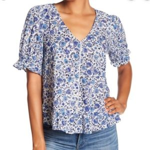 NWT Lucky Brand Lucky Floral Print Top